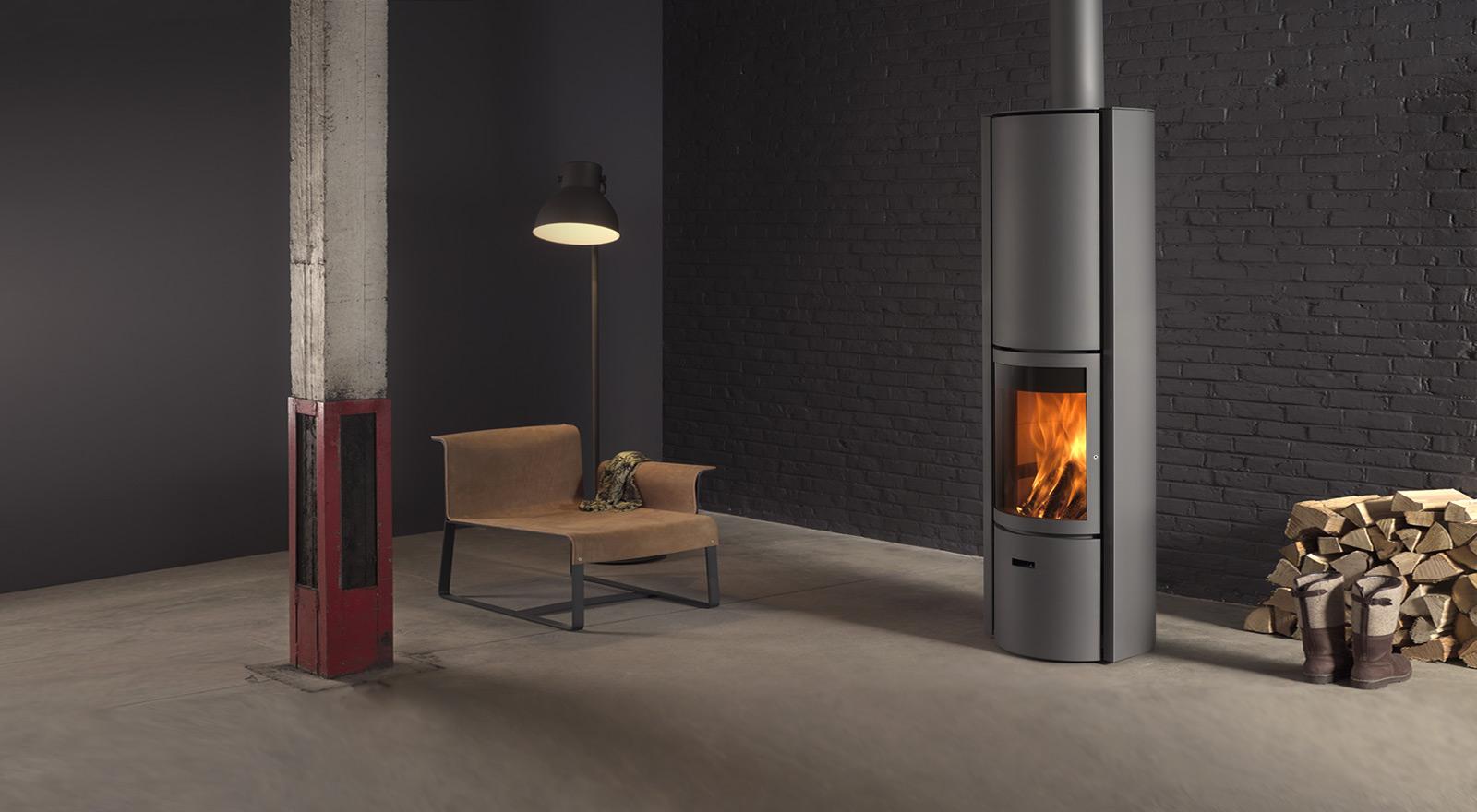 wood burning stove stuv30 h with heat storage st v. Black Bedroom Furniture Sets. Home Design Ideas