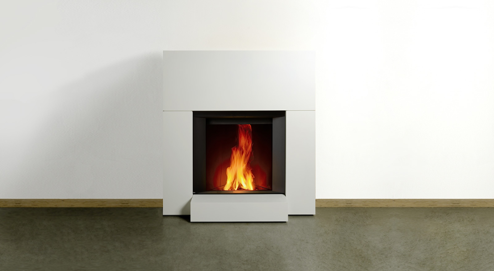 Stûv microMega with small fireplace