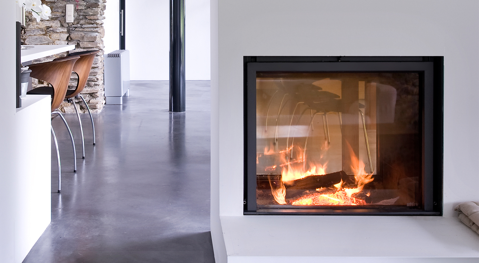 wood inset stove fire stuv 21-75 double sided | Stûv